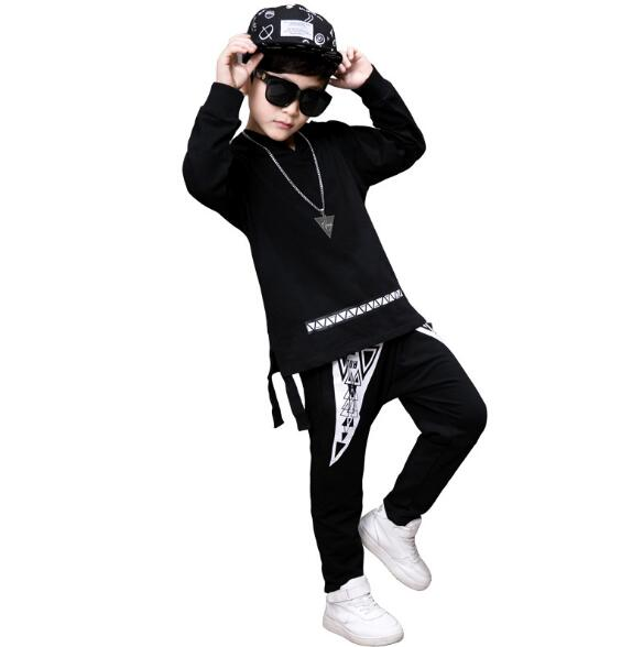 Fashion Kids Boys Clothing Sets Hip Hop Sports Suits Causal Tops + Harem Pants Boys Clothes Children long sleeve dance Outfit