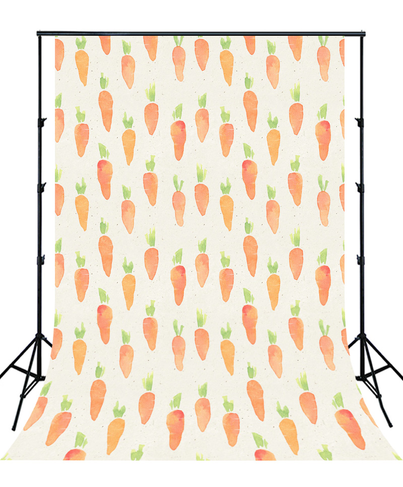 1d8d7928ed26c Newborns Cartoon Backdrop cute watercolor carrot customize vinyl photo  background studio baby Birthday Photography child XT-5648