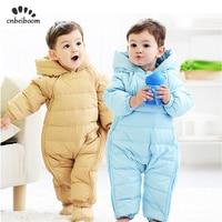 2019 Winter Baby Rompers Duck 90 Down Newborn Infant Snowsuit Boys Girls Warm Overalls Kids Jumpsuit Outerwear clothes Romper