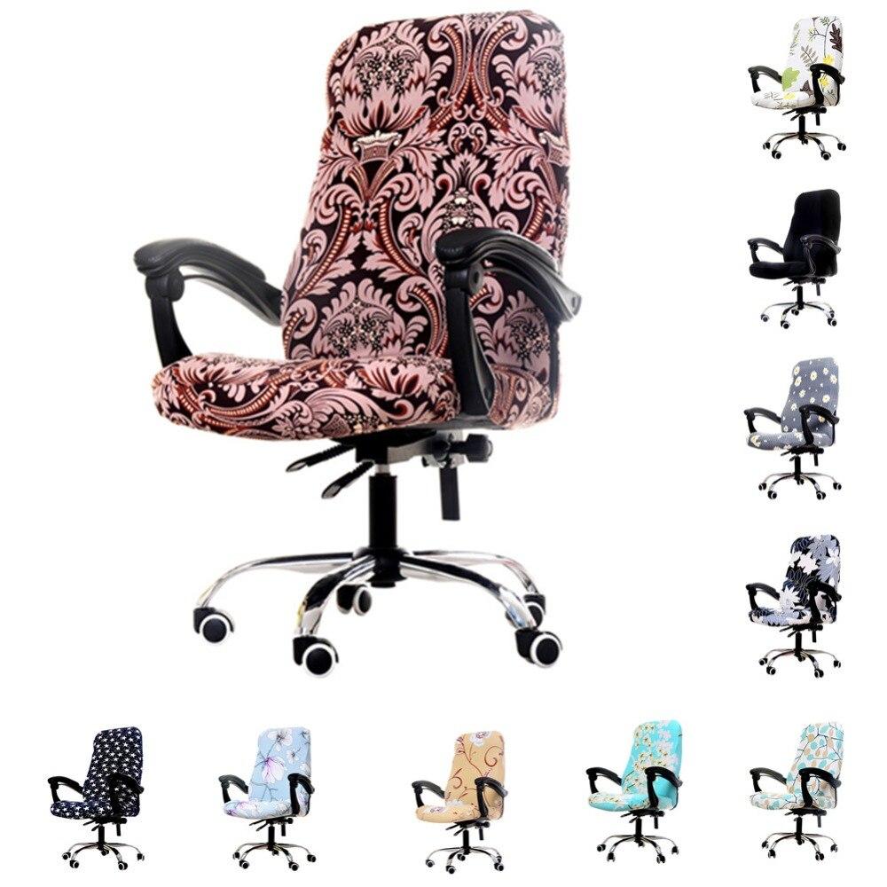 1 stücke Rotierenden Büro Computer Stuhl Abdeckung Spandex Abdeckungen für Stühle Lycra Stuhl Stretch Fall zu Passen büro Stühle für 20 farben