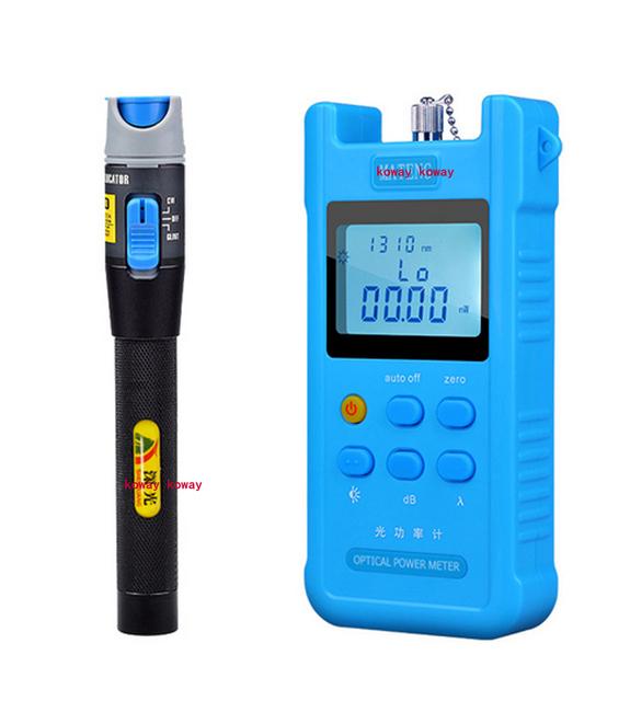 2016 Handheld fibra Óptica Power Meter + 1 MW red laser fonte pen Localizador Visual de Falhas 1 set/lote