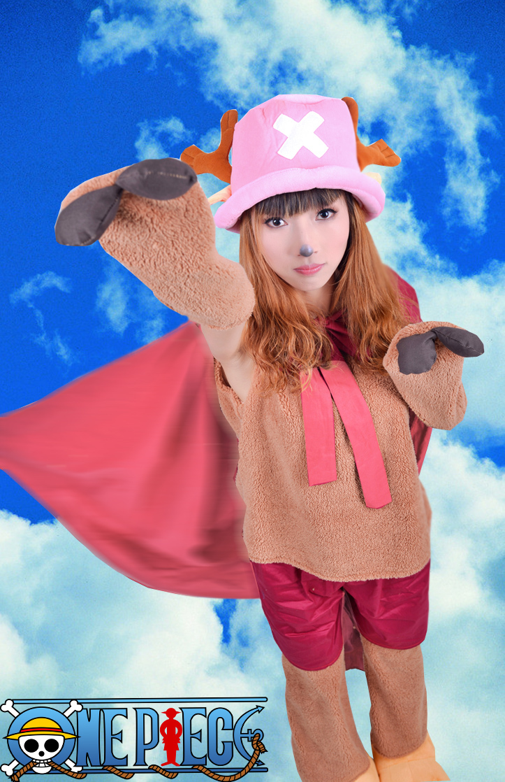 Free Shipping One Piece Tony Tony Chopper Two Years ago Super Man Cosplay Costume(No Shoes)