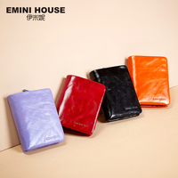 EMINI HOUSE Vintage Oil Wax Genuine Leather Wallet Women Luxury Brand Coin Purse Mini Travel Wallet Womens Wallets And Purses