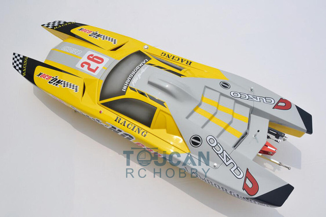 G30K ARTR Fiberglass RC Racing Boat 30CC Engine Water Cooling Sys Exhaust' Sys Yellow TH02705 4