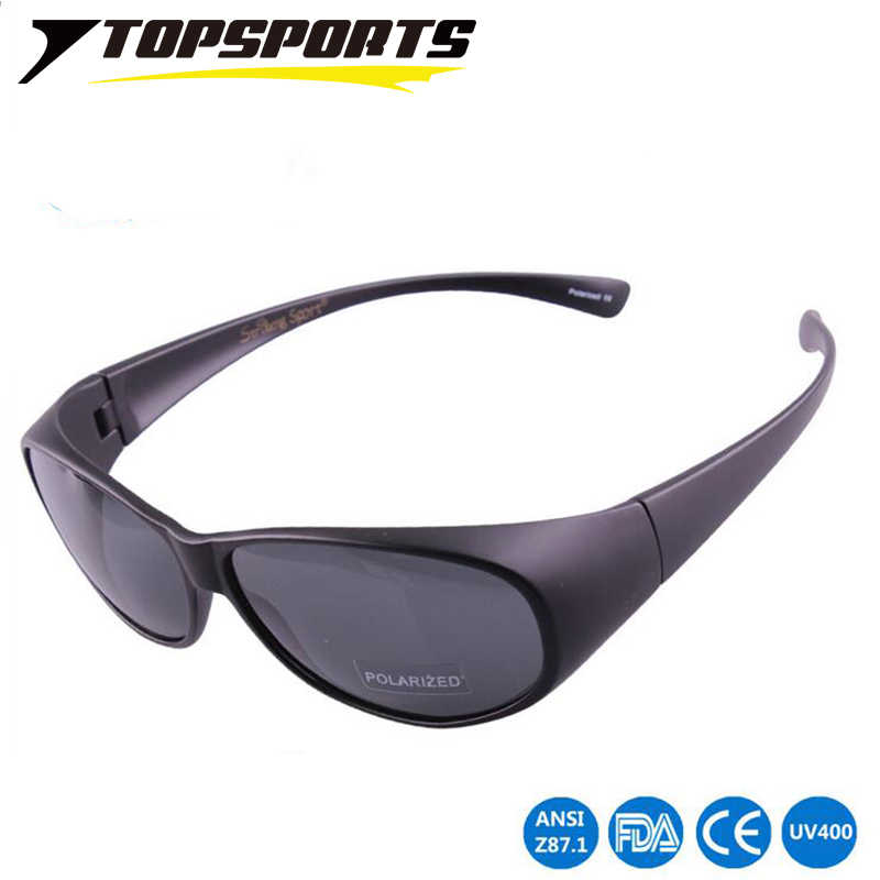 e12525768ebf TOPSPORTS 2017 NEWEST Polarized Lens Covers men women Sunglasses Fit Over  Eyewear Prescription Glasses nearsighted myopia