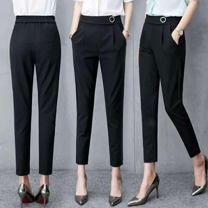 MISSMEOW Harem Pants Women Summer Women's Pants High Waist Women Pants Casual Office Trousers Slim Stretch Women's Trousers