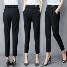 MISSMEOW harem pants women summer womens high waist casual office Trousers Slim Stretch trousers