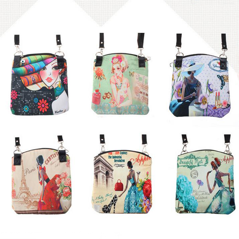 dc006edb68e3 Fashion Women Messenger Bags Vintage Canvas Printing Small Satchel Shoulder  European Style Girls Handbag Lady Crossbody Bag-in Shoulder Bags from  Luggage ...