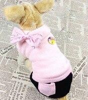 Pequeño Perro Ropa de Perro Suéter De Lana Del Arco Del Ajuste Pullover Jumper Capa del perro Fleece Forrado Pantalones de Traje de Invierno, para el Gato Perro Pequeño cachorro