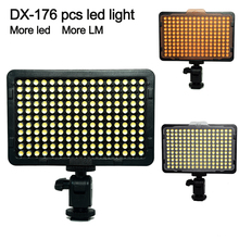 DX-176 LED Video Photography Light Lighting for Canons Nikon Sonys & DV Camera Comcorder VS CN-126/H160/CN-160 mcoplus 168 led video light on camera photographic photography panel lighting for canon nikon sony dv camera camcorder vs cn 160
