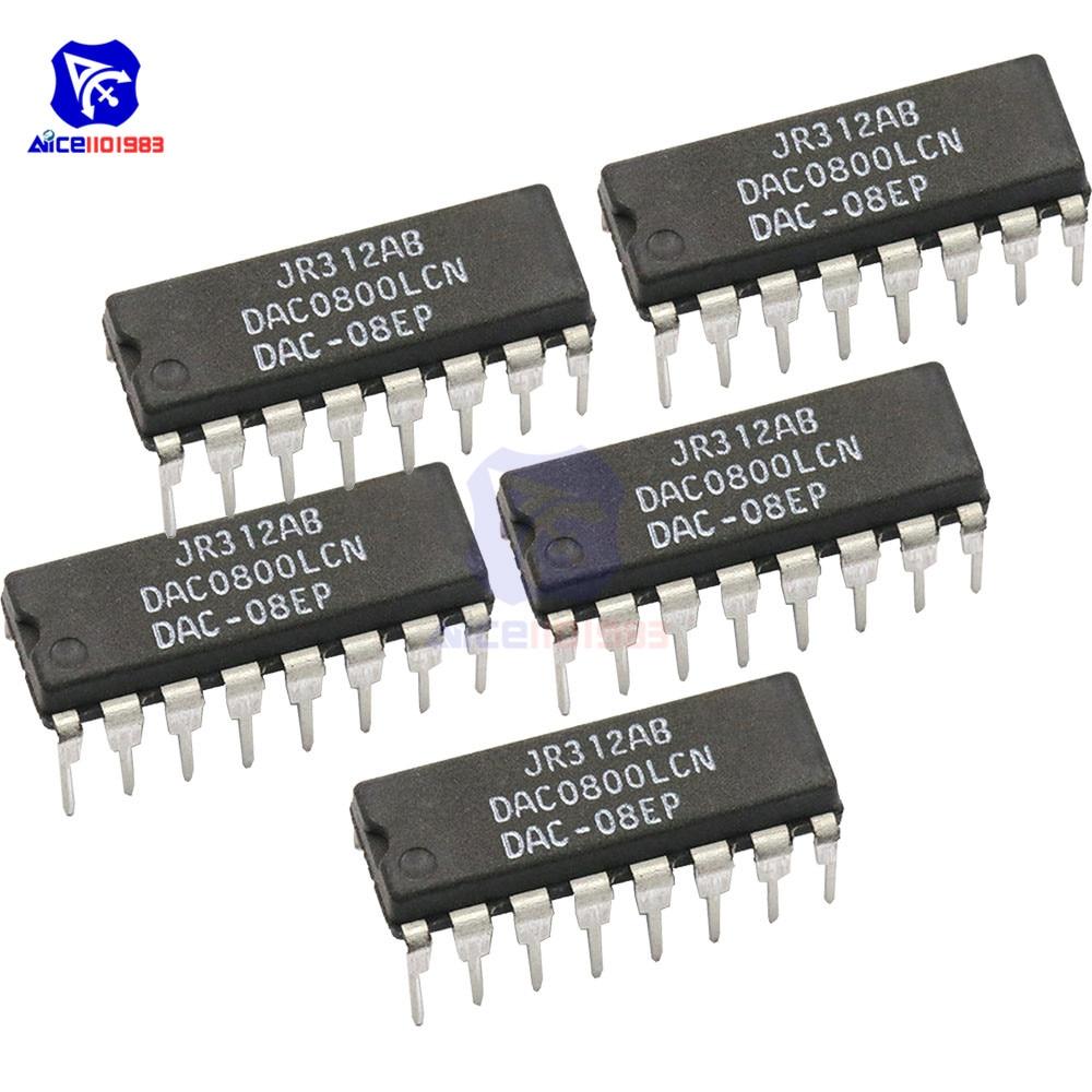 5PCS/Lot IC Chips DAC0800LCN DAC0800L DAC0800 DIP-16 Original Integrated Circuit