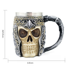 Hot Unique 350ml Stainless Steel Liner Creepy 3D Coffee Beer Milk Mug Cup Tankard Novelty for Halloween Decoration Gift(China)