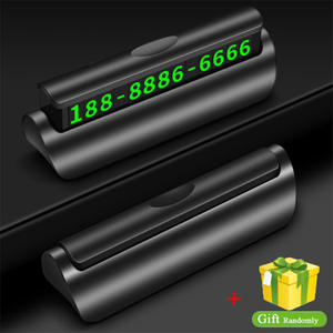 Car Sticker Phone-Number-Plate Car-Accessories Parking-Card Car-Styling Temporary Magnetic