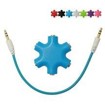 Hot 1pcs ! 100% New Audio Splitter 1 TO 5 Headphones Earphone Splitter 3.5 mm Jack Earphones Audio Adapter