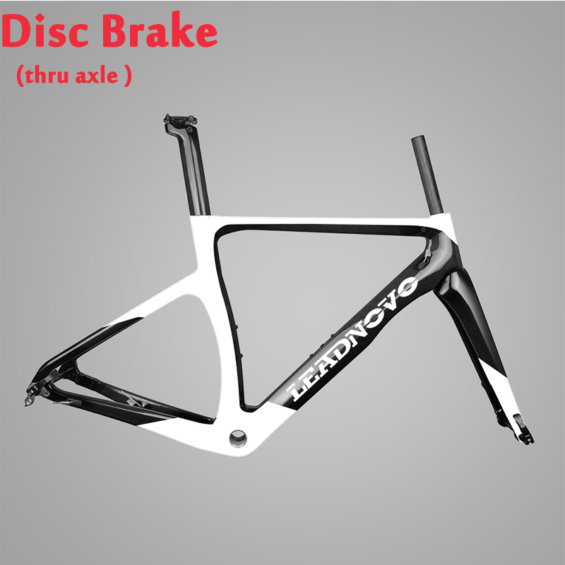 Disc Brake Newly Thru Axle Carbon Road Frame 3k 1k Glossy Matte Road Framest Bb68 Bb30 Can Customized Paint LEADNOVO