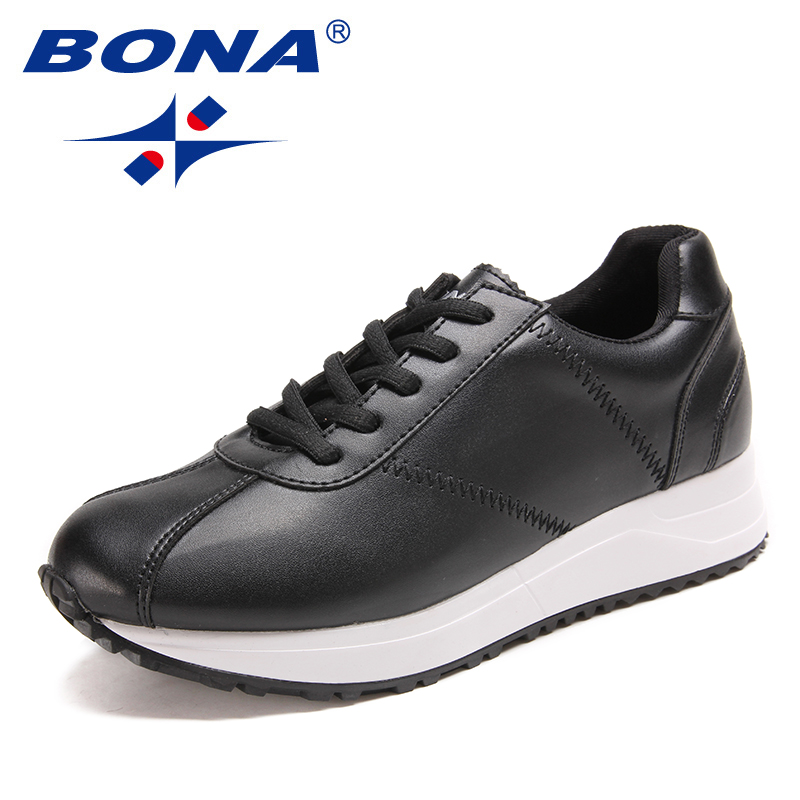 BONA New Classics Style Women Running Shoes Lace Women Athletic Shoes Comfortable Lady Outdoor Jogging Sneakers Free Shipping peak sport men outdoor bas basketball shoes medium cut breathable comfortable revolve tech sneakers athletic training boots