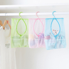 1 pc Bathroom Hanging Bag Clothespin Mesh Hooks Hanging Storage Bag 3 colors Mesh Bag Shower Bath Hanging Organizers #C60EY#(China)