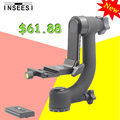 "INSEESI IN-22 Professional Panoramic 360 Degree Gimbal Tripod Head 1/4"" Screw For DSLR Camera Telephoto Lens Quick Release Plate"
