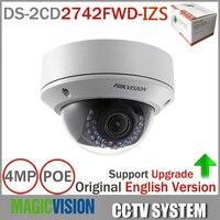 Original English IP Camera DS 2CD2742FWD IS 4MP HD 1080p IR Vari Focal Dome Network Camera
