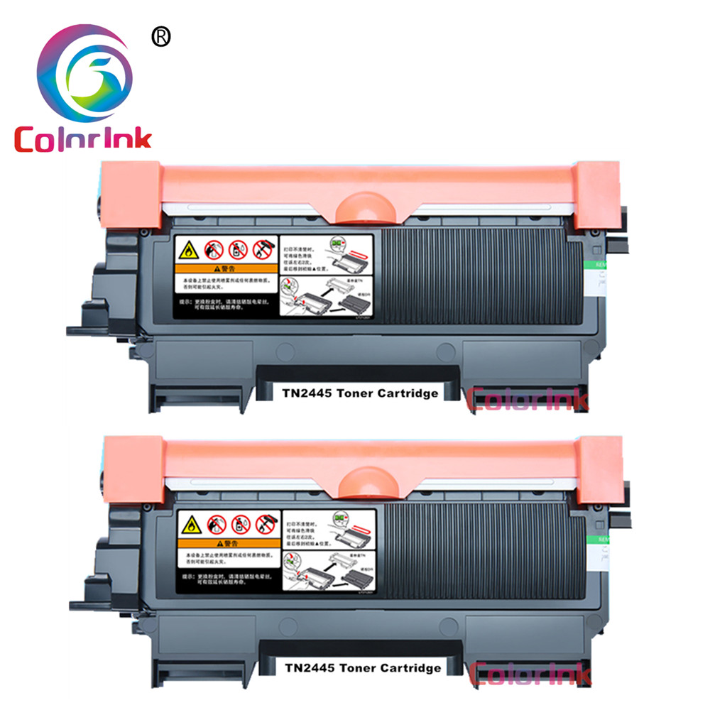 ColorInk 2 PACK TN2445 tn2445 tn 2445 pour cartouche d'imprimante Brother MFCL2713DW
