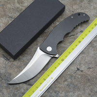 XS Persian Machete Folding Knife steel Handle D2 Blade Ceramic Bearing Open Hunting Camping Survival EDC Tools