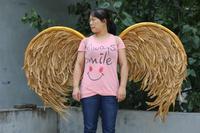 Роскошные золотые Крыло ангела взрослых дефиле нижнее белье show реквизит Праздничный Ангел крылья из перьев карнавальный костюм вечерние п