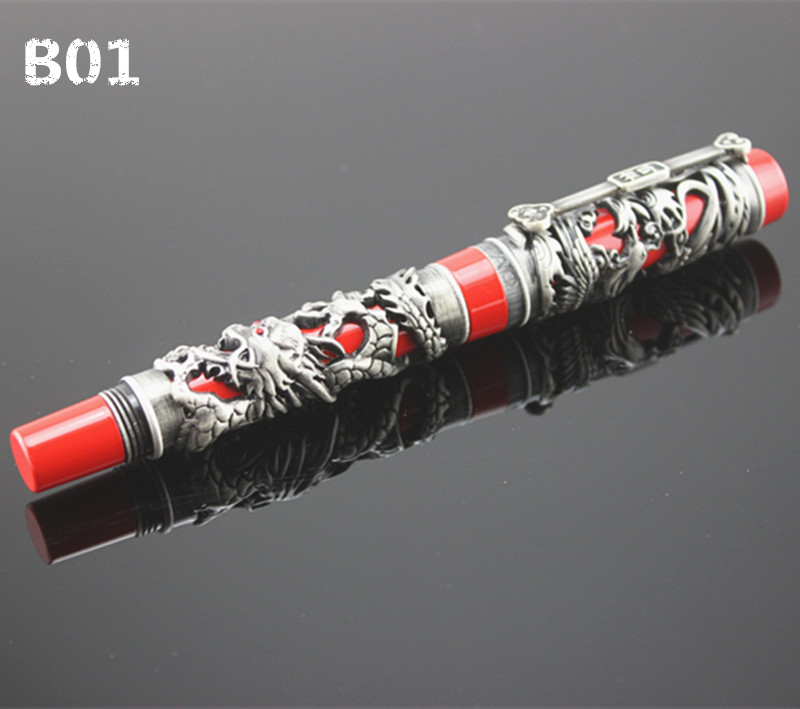 Jinhao The Latest Design Dragon And Phoenix Golden Metal Fountain Pen High Quality Hot Selling luxury writing gift pens chris wormell george and the dragon
