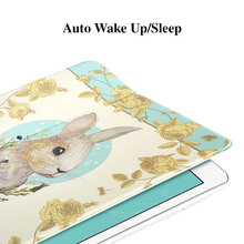 ESR Illustrators Cartoon 360 degree rotating Auto Wake Folio Stand Smart Cover Case for iPad Air 2