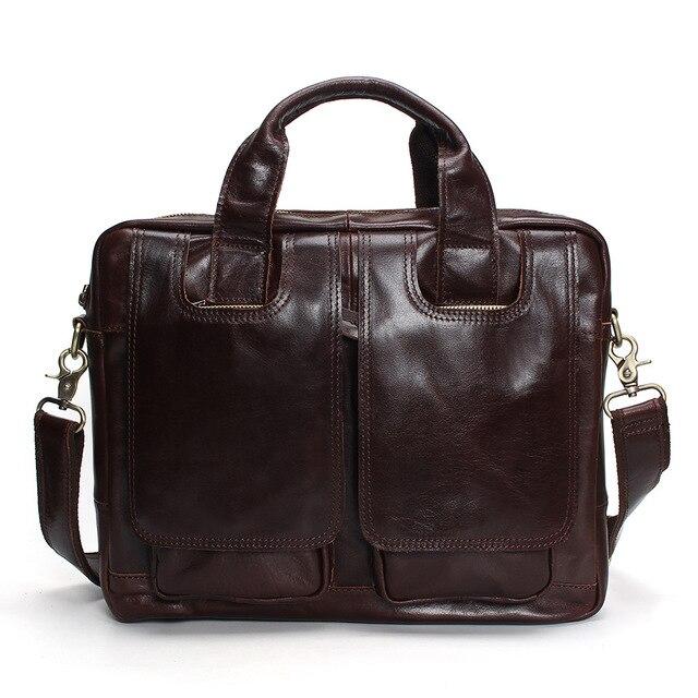 Tauren Genuine Leather Bag Men Messenger Bags Handbag Briescase Business Men Shoulder Bag High Quality Crossbody Bag Men