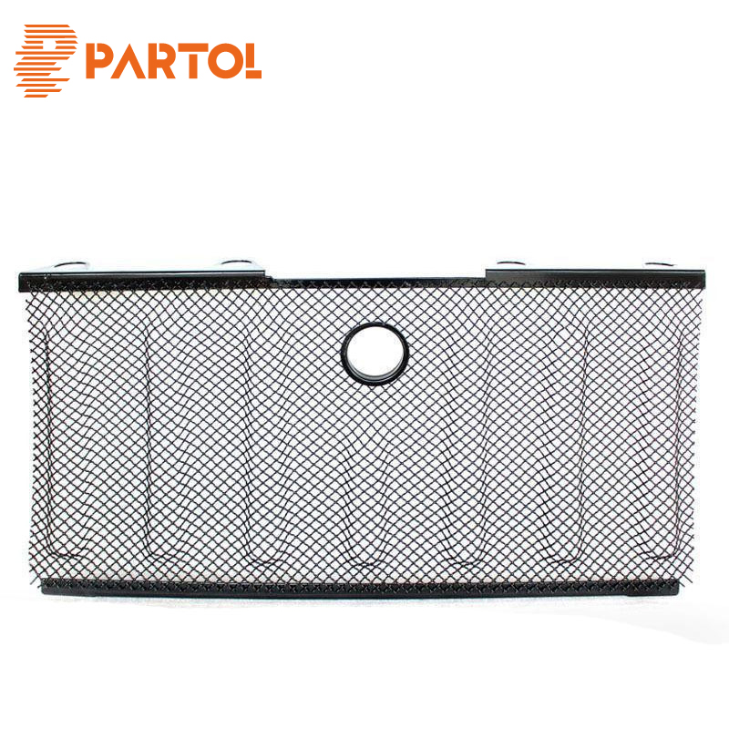 Partol 3D Grille Mesh Grill Insert With Lock Hole Radiator Protector Front For Jeep Wrangler JK 2007 2008 2009 2010 2011-2015 front grill mesh grill insert set cover front grille sticker racing grills trim for jeep wrangler jk 2007 2015
