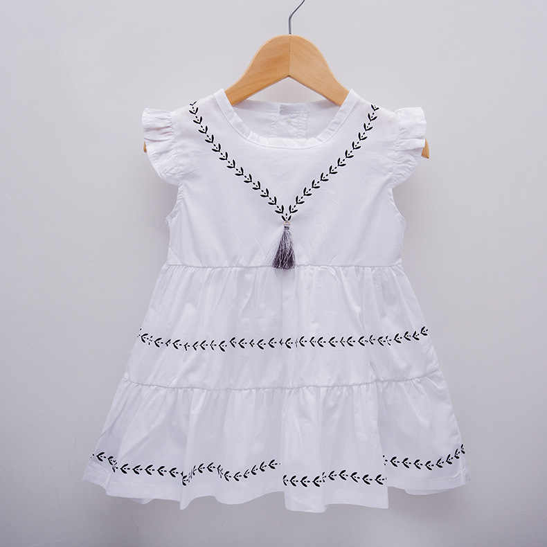 836cdca8b Tassel Baby Girls Dress Woven Cotton Summer Party Dress for Babies Brithday Infant  Girl Clothes 4