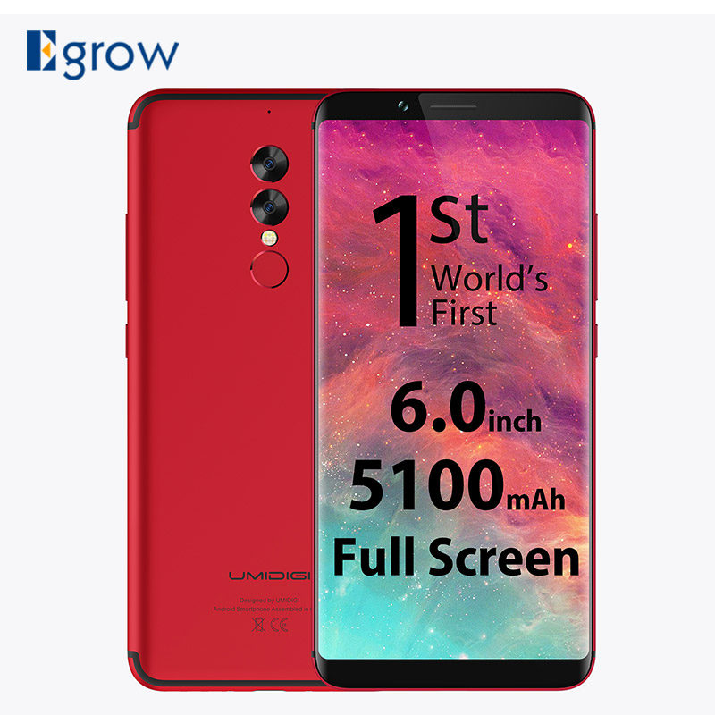UMIDIGI S2 18:9 Full Screen Mobile Phone MTK Helio P20 6.0 5100mAh 13MP Dual Rear Camera Cell Phone Front Touch ID Mobile Phone