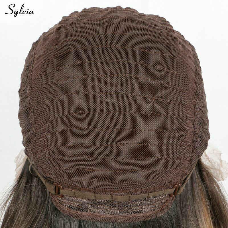 Sylvia Regenbogen Farbe Hitze Beständig Perücken Licht Lila/Sky Blau/Pastell Grün/Gelb Ombre Pastell Synthetische Spitze front Perücke Damen