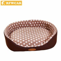 RFWCAK Cotton Dog Bed Removable And Washable Cat Dog House Mat Pad Keep Warm Small Large Dog Kennel Puppy Sofa Nest Pet Supplies