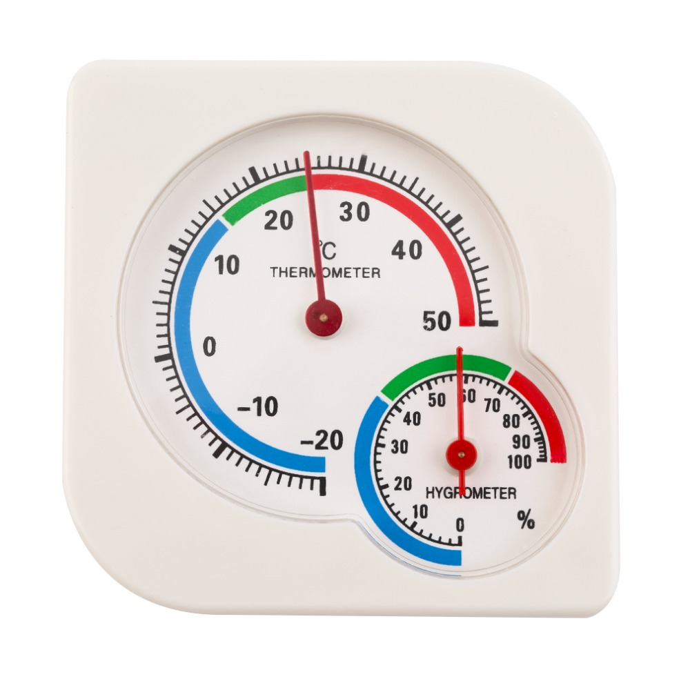 Indoor Outdoor Thermometer Hygrometer -20 to +50 Celsius Garden Office Temperature Humidity Meter Standing and Wall Hanging