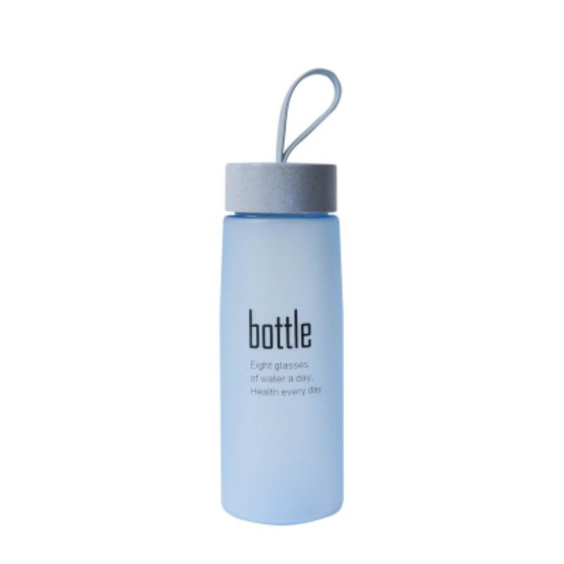 BPA Free Drinking Water Bottle Plastic Sport Scrub Leak Proof My Bottle Portable Stylish Drinkware Travel Bottles for Lovers