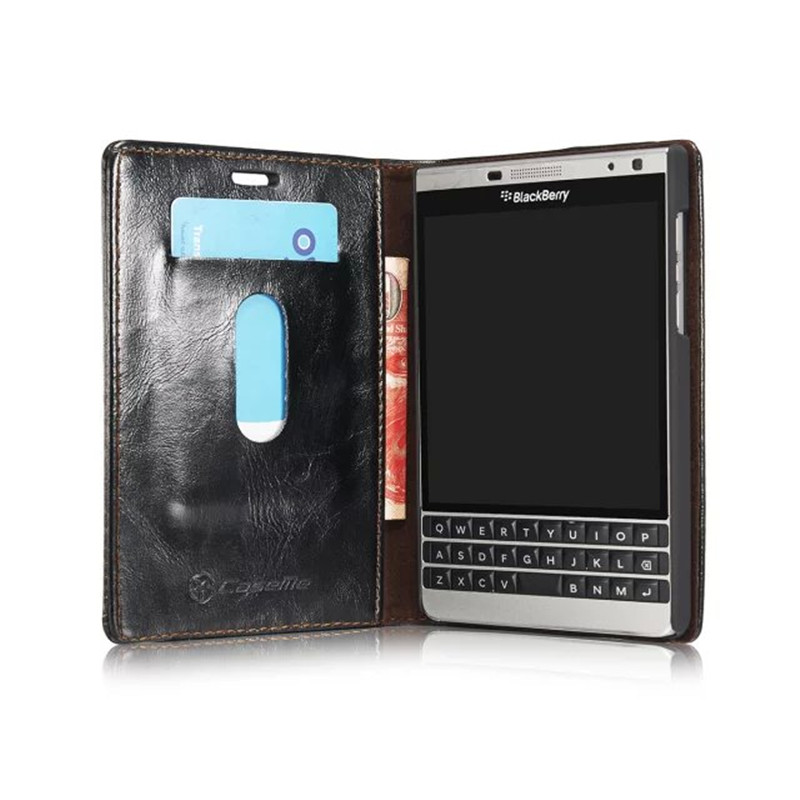 luxury leather case for blackberry passport 2 phone bags. Black Bedroom Furniture Sets. Home Design Ideas
