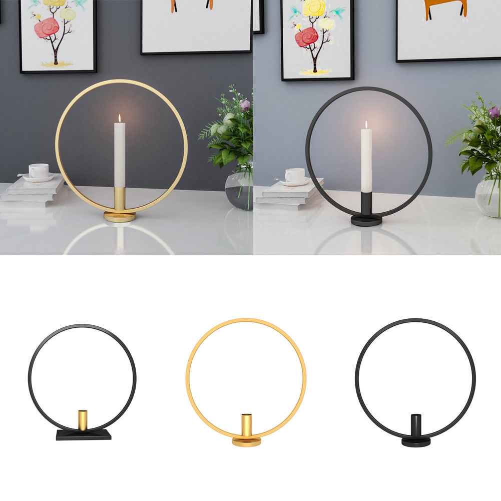 3D Geometric Round Iron Candle Holders Tea Light Wall ... on Metal Candle Holders For Wall id=25839
