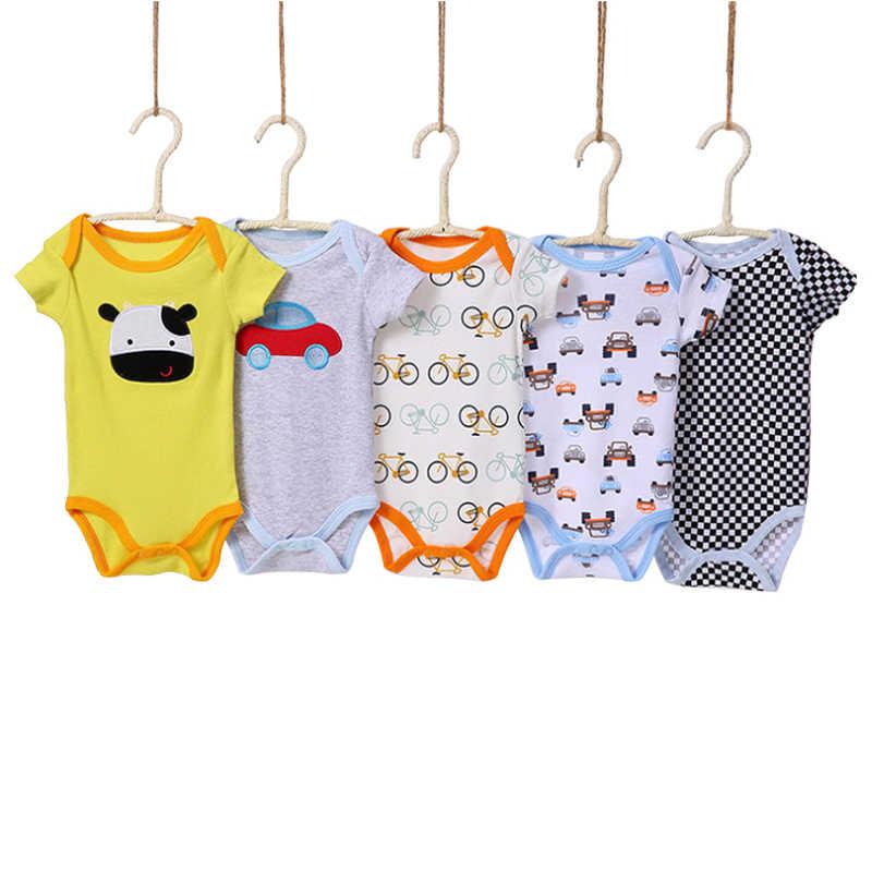 Baby Boy Bodysuits Thời Trang 5 Cái/Packs Dễ Thương Đáng Yêu Bé Jumpsuit Bé Quần Áo Bé Gái Ngắn Tay Áo Bodysuits Đồ Lót Carters