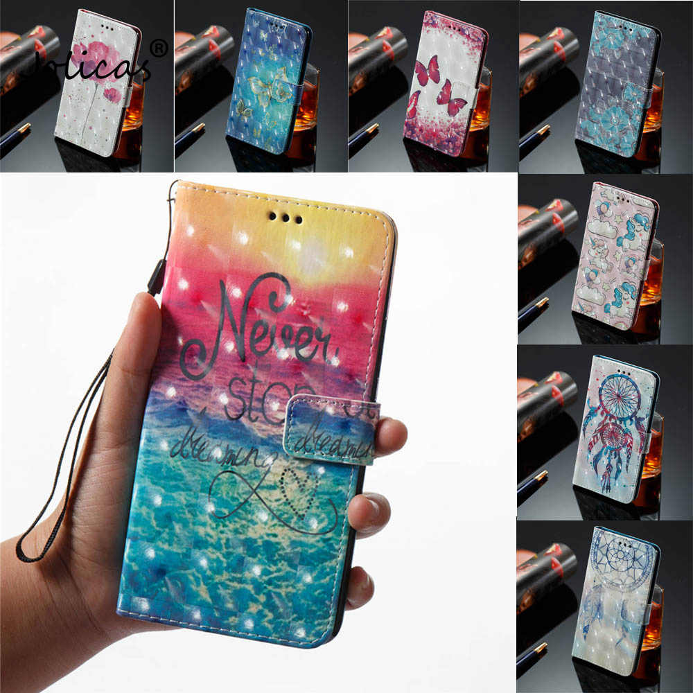 "3D Book Flip Covers On For HUAWEI P Smart 5.6"" 2018 PU Cases For HUAWEI FIG-LX1 LX3 FIG-L21 PSmart Cases Wallet TPU Full Housing"
