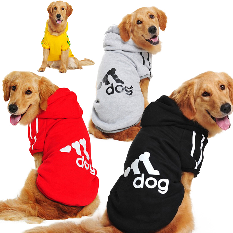 New Autumn Winter Large Dog Clothes Sportswear Labrador Golden Retriever Warm Coat Soft Cotton Hoodies Pets Jackets 3XL-9XL GY06