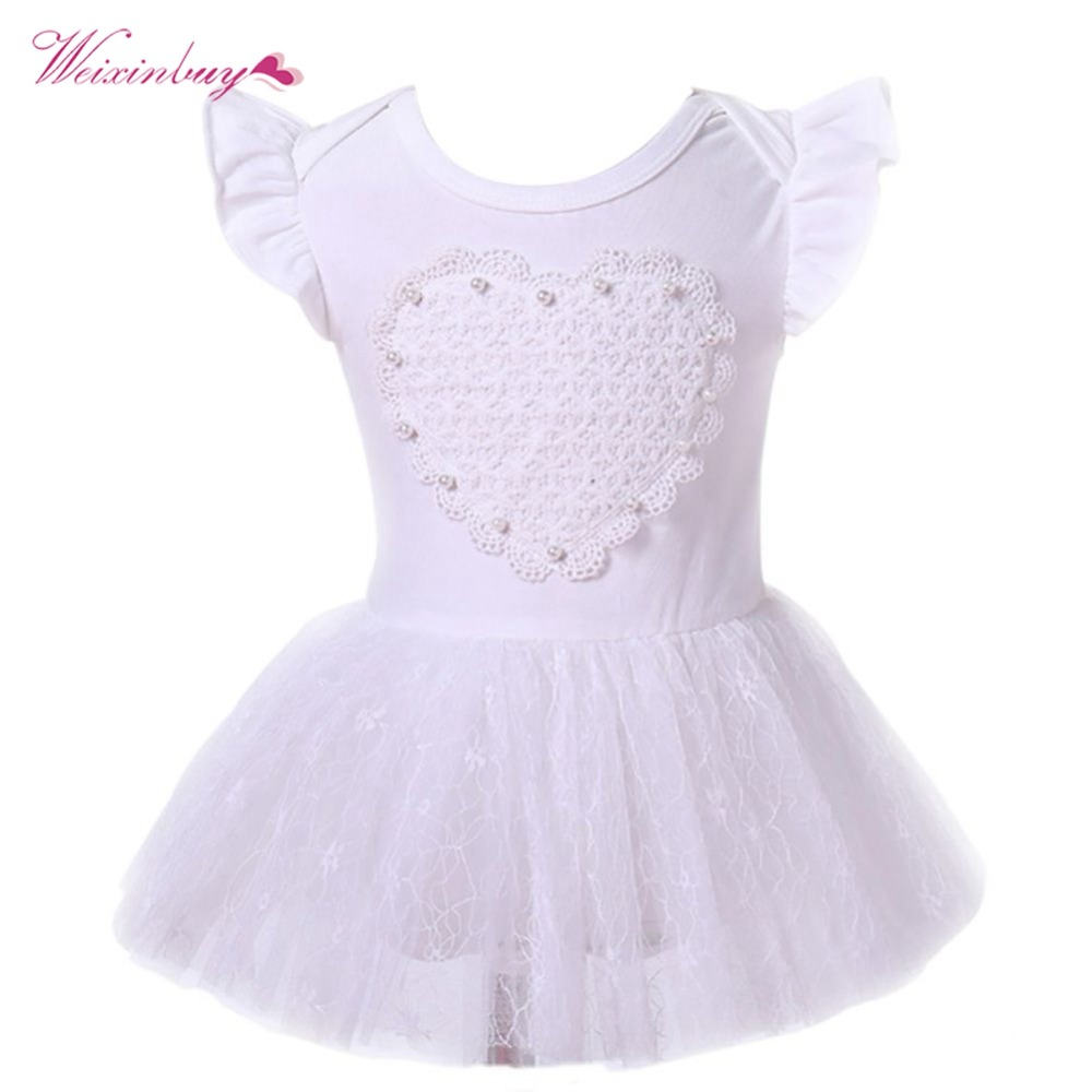 WEIXINBUY New Born Baby Girls Infant Dress&clothes Summer Cute solid Vestidos ...