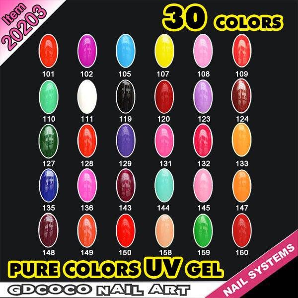 Nail products wholesale 30 color nail uv gel nail set  #20203