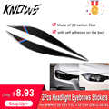 Carbon Fiber Headlight Eyebrows Rearview Mirror Anti-Rub Strips Stickers Cover Exterior Decoration for BMW F30 F31 F32 F33 F34