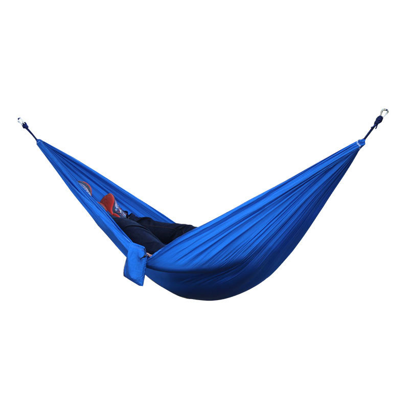 Best 2 People Portable Parachute Hammock for outdoor Camping(Royal blue) 270*140 cm 2 people portable parachute hammock camping survival garden flyknit hunting leisure hamac travel for outdoor camping 270 140 cm