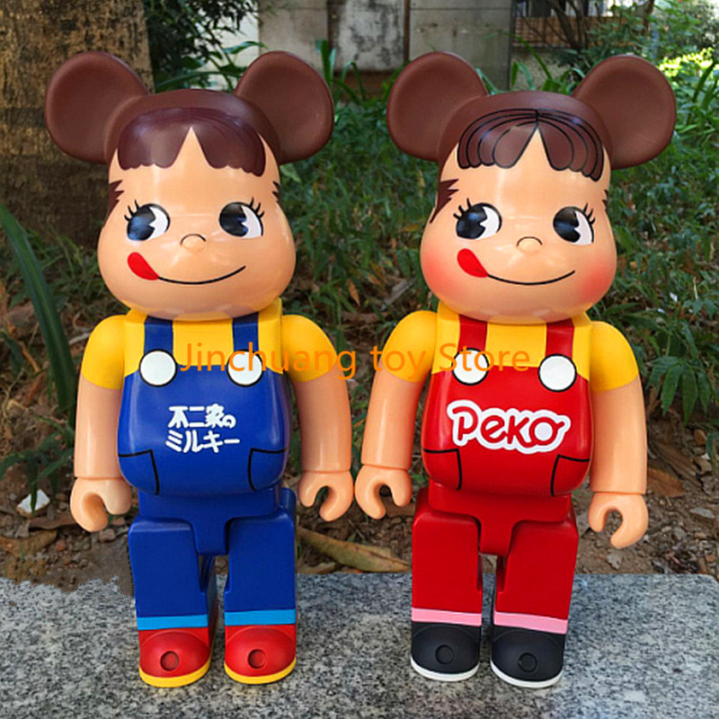 11inch 400% Bearbrick Cos Peko Fujiya Be@rbrick Cute Fashion Doll PVC Action Figure Collectible Model Toy DE289 new hot christmas gift 21inch 52cm bearbrick be rbrick fashion toy pvc action figure collectible model toy decoration