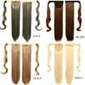 """Hot 60cm 26"""" Clip In Ponytail Tail Hair  Extensions Wrap on Hair Piece Straight Style 100% Top Quality Promotional Free shipping"""