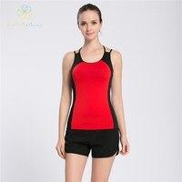 Hello Anthena Womens Ambrosia Tankı Polyester/Spandex Yumuşak Kaşkorse Aç Geri Yelek Spor Yoga Fitness Koşu Yaşamlarında Jogging Gym