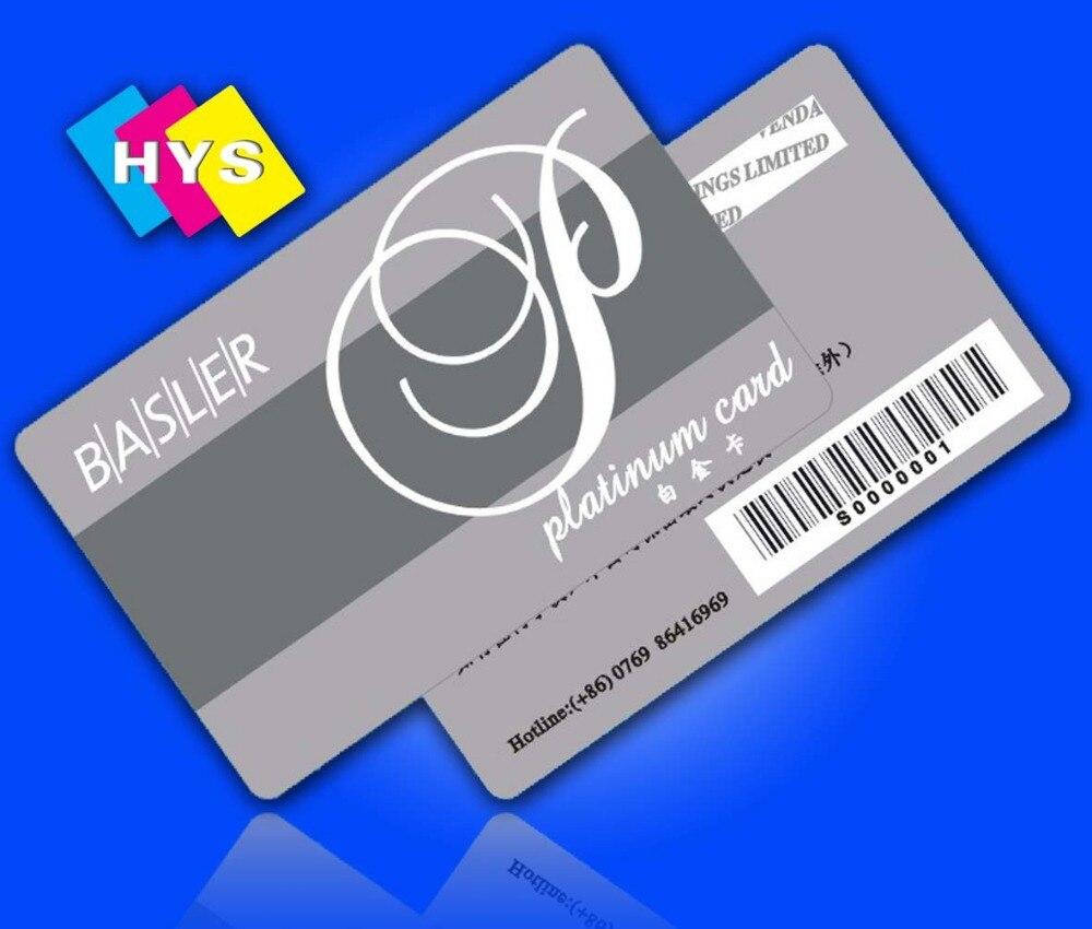 Tarjeta de plástico codificada y Impresión de tarjetas de visita