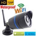 Wateproof ip cámara 720 p HD wifi al aire libre sistema de vigilancia de seguridad cctv mini cámara inalámbrica P2P infrarrojos resistente a la intemperie mini hogar